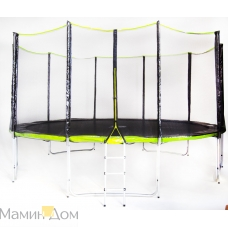 Батут Fitness Trampoline GREEN 15 FT Extreme 5 опор